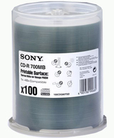 Sony Printable media 100CDQ80SPDTP 700MB 100pezzo(i)