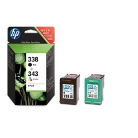 HP 338 Black/343 Tri-color 2-pack Original Ink Cartridges cartuccia d