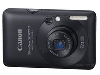 "Canon Digital IXUS 100 IS Fotocamera compatta 12.1MP 1/2.3"" CCD 4000 x 3000Pixel Nero"