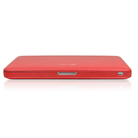 "Macally 13"" aluminium MacBook Pro 13"" Custodia a tasca Rosso"
