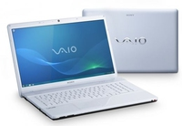 "Sony VAIO VPCEC1M1E/WI 2.13GHz i3-330M 17.3"" 1600 x 900Pixel Bianco notebook/portatile"