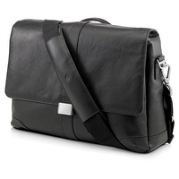 "HP Elite Leather Messenger 15.6"" Borsa da corriere Nero"