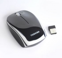 Toshiba Wireless Laser Mouse (RF) - 2.4GHZ, Black Silver RF Wireless Ottico 1600DPI mouse