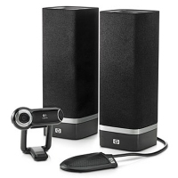 HP SkyRoom Webcam and Desktop Audio Kit monitor CRT
