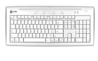 Macally Hi-speed usb 2.0 keyboard USB QWERTY Bianco tastiera