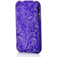 Contour Design Hardskin Inked iPhone 3G/3Gs - Flower Blu