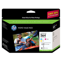 HP 564 Series Photosmart Photo Value Pack-85 sht/4 x 6 in borderless cartuccia d