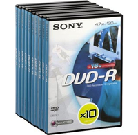 Sony DVD-R Video Box 4.7GB 10pezzo(i)