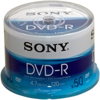 Sony DVD-R Spindle 4.7GB 50pezzo(i)