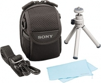 Sony ACC-SHA Cyber-shot Starter Kit: Case + Mini Tripod + Cleaning Cloth