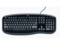 Logitech Classic Keyboard US PS/2 Nero tastiera