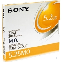 "Sony 5.25"" Magneto-Optical Disc, 5233MB 5233MB 5.25"" disco ottico-magnetico"