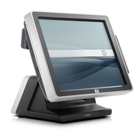 "HP ap ap5000 All-in-One Point of Sale System (ENERGY STAR) 2.8GHz E7400 15"" 1024 x 768Pixel Touch screen terminale POS"