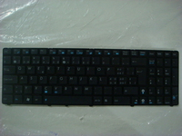 ASUS 04GNV32KSF00-1 QWERTY Francese, Svizzere Nero tastiera