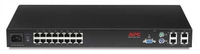 APC 16-Port IP KVM 1U Nero switch per keyboard-video-mouse (kvm)