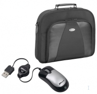"Targus 15.4"" Notebook Case + Mini Retractable Mouse 15.4"" Valigetta ventiquattrore Nero"