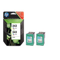 HP 343 2-pack Tri-color Inkjet Print Cartridges Ciano, Giallo cartuccia d