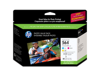 HP 564 Series Photo Value Pack-85 sht/10 x 15 cm borderless cartuccia d