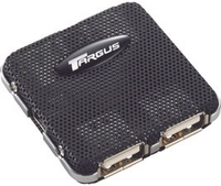 Targus Super Mini USB 2.0 4-Port Hub 480Mbit/s Nero perno e concentratore
