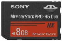 Sony MSHX8A 8GB MS Pro-HG Duo memoria flash