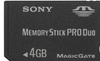 Sony 4GB Memory Stick Pro Duo + adapter 4GB MS memoria flash