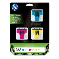 HP 363 3-pack Cyan/Magenta/Yellow Original Ink Cartridges cartuccia d