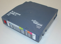 Fujitsu LTO 3 data cartridge with label LTO