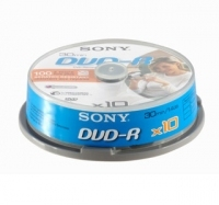 Sony DVD-R 30min spindle, 10pk 1.4GB DVD-R 10pezzo(i)