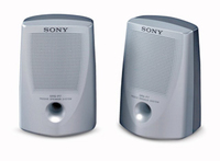 Sony Lightweight, bass reflex speakers 0.8W Argento altoparlante