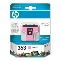 HP 363 Light Magenta Ink Cartridge with Vivera Ink Magenta chiaro cartuccia d