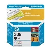 HP 338 Black Inkjet Print Cartridge with Vivera Ink Nero cartuccia d
