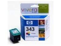 HP 343 Tri-colour Inkjet Print Cartridge with Vivera Inks Ciano, Giallo cartuccia d