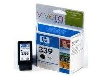 HP 339 Black Inkjet Print Cartridge with Vivera Ink Nero cartuccia d