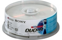 Sony DVD+R 4.7GB Spindle 120min 25pk+5 free 4.7GB DVD+R 30pezzo(i)