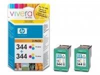 HP 344 Tri-colour Inkjet Print Cartridge 2-pack cartuccia d
