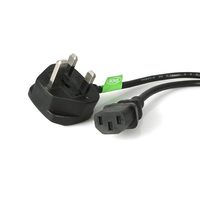 StarTech.com 3 Prong UK PC Power Cord 1.8m Nero cavo di alimentazione