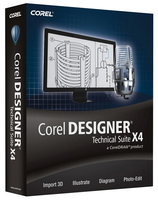 Corel Designer Technical Suite X4, MNT, 26-60u, 1Y, Multi