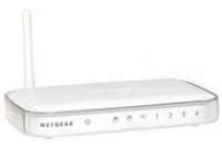 Netgear 54 Mbps Wireless Print Server with 4-port Switch LAN senza fili server di stampa