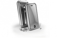 Cellularline Glam Case IPhone 4G Dark Grey Grigio