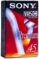Sony VHS-C Premium Camcorder Tape - 45 min