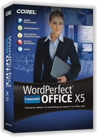 Corel WordPerfect Office X5 Standard, 351-500u, UPG, ENG