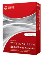 Trend Micro Titanium Internet Security for Netbooks, 3u, 1Y 3utente(i) 1anno/i Inglese