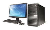 Acer Veriton M670G + S221HQLbd 2.5GHz Q9300 Mini Tower Nero PC