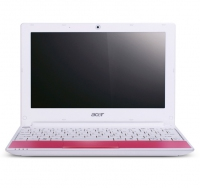 "Acer Aspire One One Happy Pink-2DQpp 1.66GHz 10.1"" 1024 x 600Pixel Rosa Netbook"