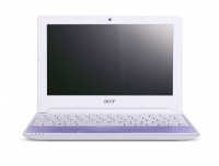 "Acer Aspire One One Happy Purple-2DQuu 1.66GHz 10.1"" 1024 x 600Pixel Porpora Netbook"