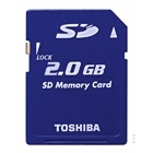 Toshiba 2 GB Secure Digital Memory Card 2GB SD memoria flash