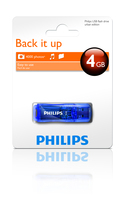 Philips FM04FD35B 4GB USB 2.0 Tipo-A Blu unità flash USB