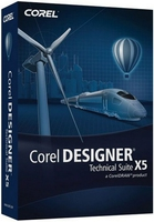 Corel Designer Technical Suite X5, Win, CROM, UPG, EN/FR