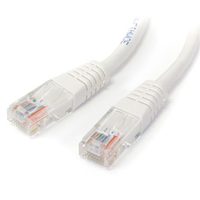 StarTech.com 25 ft White Molded Category 5e (350 MHz) UTP Patch Cable 7.6m Bianco cavo di rete