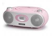 AudioSonic CD-1579 Portable CD player Rosa, Bianco CD player